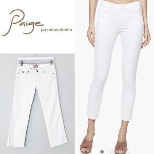Paige Denim Cropped Jeans in White Clay Size 28